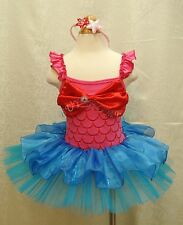 Minnie Mouse Mermaid Girl Kid Cosplay Party Costume Ballet Fancy Tutu Dress 1-10