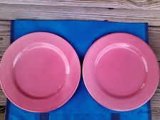"""TWO BIZZIRRI LUNCHEON PLATES MADE IN ITALY PINK 8 3/4"""""""