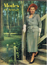 MODES ET TRICOT N°7 1951  mode fashion