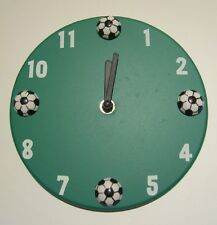 SOCCER WALL CLOCK Kids Teens Tweens Bedroom Home Decor Sports Fan Football NEW