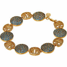 New Exclusive Gift HARLEM CARTER 24ct Gold Plated Queen Cleo Bracelet £150