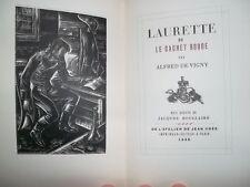 VIGNY Alfred LAURETTE OU LE CACHET ROUGE      sur vélin nté BOIS GRAVES