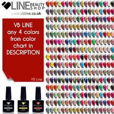 Cualquier 4 Colores vb ® Line LED/UV Soak Off Nail Polish de 200 Colores de Gel de Color