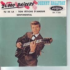 CD 4 titres JOHNNY HALLYDAY ** 24000 BAISERS*** TU ES LA ***  n°7