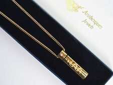 """30"""" SOS NECKLACE/PENDANT MEDICAL ALERT/STAINLESS STEEL 9ct GOLD PLATED TALISMAN"""