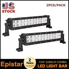 2pcs 72W 14inch Combo Led Light Bar ATV Jeep Off Road Lamp 4X4 SUV Truck Screw