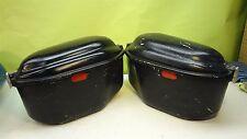 Large black universal side saddle luggage hard bags cases set W3-1'