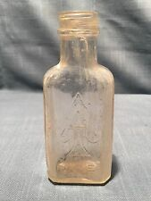 Antique Ace Of Spades Glass Embossed Bottle