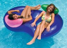 Inflatable Tube Float 2 Person Swimming Pool Water Floating Lounge Raft River .