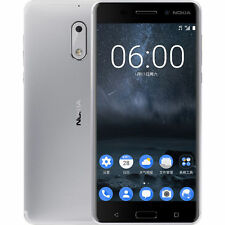 New 5.5'' Nokia 6 Dual SIM Unlocked Android 4G LTE Smartphone - 64GB - Silver