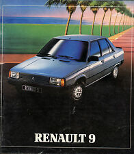 Catalogue publicitaire RENAULT 9 R9
