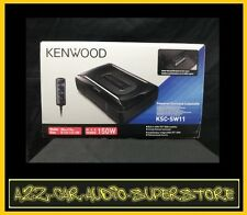 KENWOOD KSC-SW11 COMPACT ENCLOSED POWERED CAR SUBWOOFER NEW KSCSW11