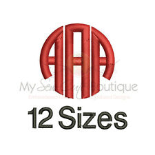 Circle Alphabet Embroidery Fonts Machine Embroidery Design IMFCD6
