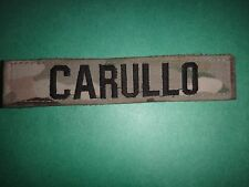 US Army OCP Multicam Velcro Pocket Name Tape CARULLO Patch
