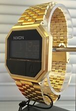 NEW IN BOX Nixon Re-Run All Gold Digital Wrist Watch A158502