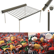 Portable Camping Barbecue Grill Folding BBQ Outdoor Pack Cooking Stainless Steel