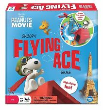The Peanuts Movie SNOOPY Flying Ace Board Game Red Baron Eiffel Tower Plane NEW