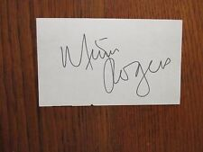 """MIMI  ROGERS (""""Two and a Half Men/Lost  in  Space"""") Signed  3  x  5  Index  Card"""