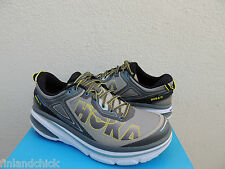 HOKA ONE ONE BONDI 4 WIDE 2E GREY RUNNING SHOES, MENS US 9/ EUR 42 2/3 ~NIB