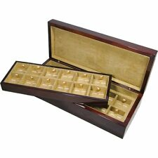 Camphor Burl Wood Veneer 24 Cufflink Box by Hillwood Uk Ltd