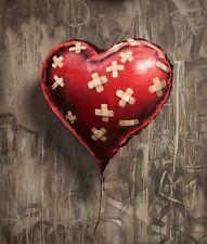 A4 BANKSY Arte Foto imprimir para 99P (band-aid-balloon-heart),