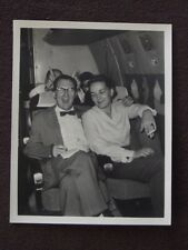 MAN MAKING BUNNY EARS BEHIND MAN WEARING A BOW TIE Vtg 1950's PHOTO