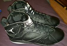 Nike Air Jordan 7 Retro Metal Cleats Size 9.5 Black/White 684943 010 NEW