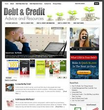 * DEBT & CREDIT RELIEF * affiliate website for sale with DAILY AUTO CONTENT!