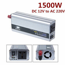 1500W Car DC 12V to AC 220V Power Inverter Charger Converter for Electronic E3
