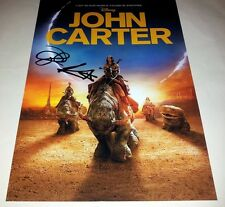 """JOHN CARTER PP SIGNED 12""""X8"""" INCH POSTER TAYLOR KITSCH"""