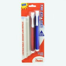 Pentel Tri Eraser Refill 2-Packs  - Retractable 3 Sided (12 Erasers, 12 Refills)