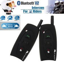 2 x BT 500M Motorcycle Interphone Bluetooth Motorbike Helmet Intercom Headset