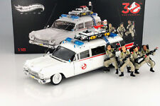 HOTWHEEL ELITE BLY25 1:18 GHOSTBUSTERS ECTO-1 30TH ANNIVERSARY EDITION W/FIGURES