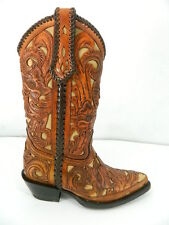 Hand tooled cowboy boot made to order any style from gallery or send  picture.