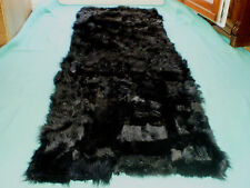 Fur runner Tuscany fur Lambskin black Real fur Sheepskin Patchwork Carpet