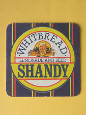 Whitbread Brewery Novelty Crossword Shandy BEER MAT COASTER BREWERIANA