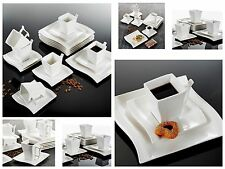 18PC Dinner Set Dessert Side Wave Plates Cups & Saucers Ceramic Combi Dining Set