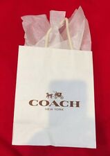"New Authentic COACH Shopping Gift Bag 10"" X 8"" X 4""plus Tissue paper COACH"