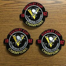 (3) Lot Of 1992 Penguins Stanley Cup Patches