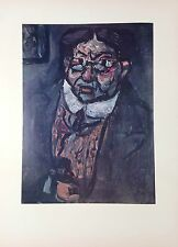 "1954 Vintage Full Color Art Plate ""MR. X"" GEORGES ROUAULT NOTORIOUS Lithograph"