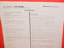 1980 MOTOROLA CB RADIO SERVICE SHOP MANUAL MODELS CR520 & CR521