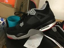 Nike Air Jordan IV 4 Retro SZ 11 Black Cement Fire Red BRED 308497-089 Sz 11 Max