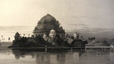 GRAVURE ANCIENNE 19e - TOMBE DE SHERE SHAH - INDE