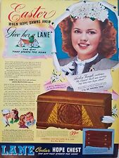 1943 Lane Cedar Hope Chest Easter Gifts Furniture Shirley Temple Original Ad