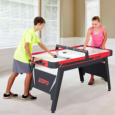 "ESPN 60"" Air Powered Hockey Table 2 Pucks Pushers Game Red Black Play New"