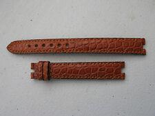Nos Vintage Omega 13mm Marrón Serpiente acolchada señoras correa larga con 4mm recortes