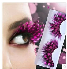 P10 Hot Pink With Point one pair Feather eyelashes Extra extension false eye Hot