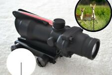 4X32 Green Red Fiber Optic Triangle illuminated Rifle scope 4x magnification