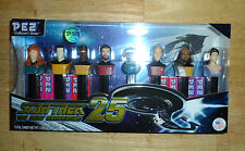 NIB -STAR TREK 25-THE NEXT GENERATION PEZ DISPENSERS-SET OF 8 COLLECTOR'S SERIES