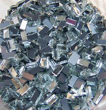 "500 1/4""x1/2"" HANDCUT GLASS SILVER Mirrors Mosaic Tiles Tile Art Craft Supplies"
